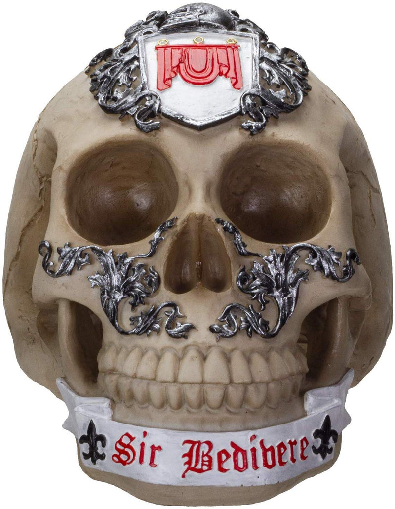Ebros Knights of The Round Table King Arthur Skulls Sir Bedivere Skull Figurine
