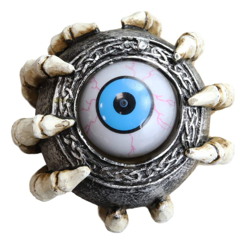 Rolling Evil Eye Swagger Cane Staff with Skeletal Hand Handle