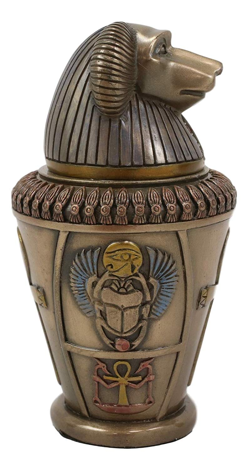 "Ebros Ancient Egyptian Gods and Deities Hapi Canopic Jar Urn Statue 5.75"" H"