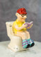 Reading Old Grandpa With Pants Down On Toilet Seat Salt And Pepper Shakers Set