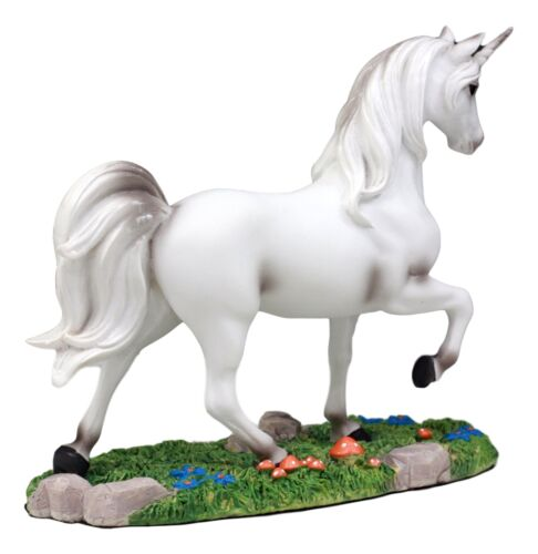 "Enchanted Forest Glade Strolling Unicorn Figurine Decorative Statue 6.75""Long"