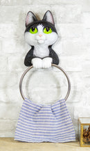 Whimsical Kitten Cat Toilet Paper And Hand Towel Holder Vanity Bathroom Wall Set