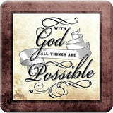 Christian Faith Bible Inspirational Scriptures Ceramic Tiles Coaster Set of 4