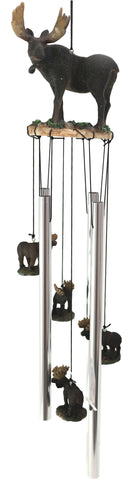 The Emperor North American Moose Resonant Relaxing Wind Chime Garden Patio