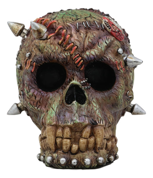 "Ebros Day of The Dead Zombie Vampire Frankenstein Skull with Open Brains Figurine 6"" Long Undead T Virus Infected Statue Dead Apocalypse Zombies Undeads Macabre Halloween Home Decor Sculpture"