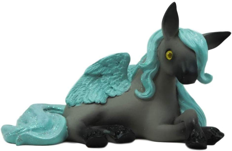 Ebros Whimsical Fairy Tale Pegasus Horse Figurine Shelf Decor (Aqua Blue Delphi)