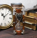 Past Present and Future Cool Steampunk Gearwork Sandtimer Black Sand Sculpture