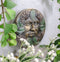 Bronzed Four Seasons Tropics Summer Celtic Greenman Pan Wall Decor Sunflower