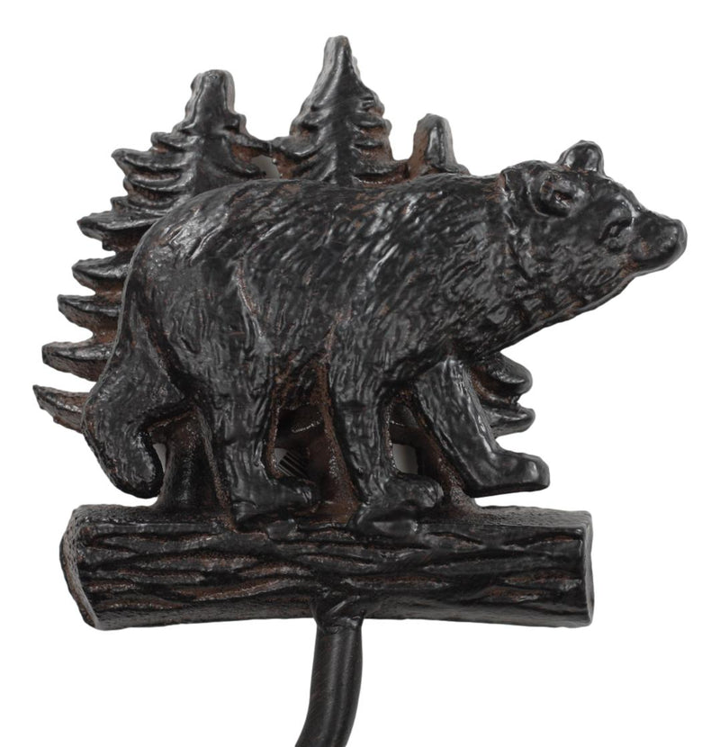 "Ebros Whimsical Black Bear Toilet Paper Holder Bathroom Wall Decoration 8.25""H"