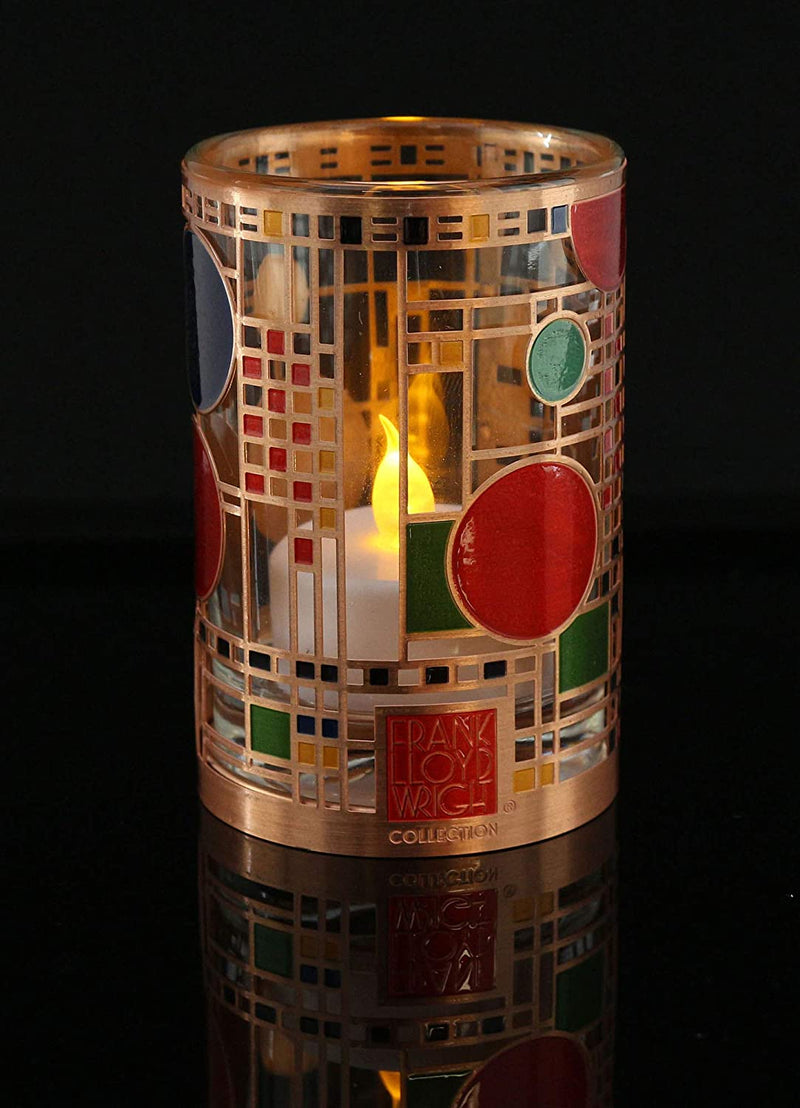 3.5 Inch Frank Lloyd Wright Collection Coonley Playhouse Votive Holder
