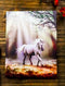 Anne Stokes Small Glimpse Sacred Unicorn Wood Framed Picture Canvas Wall Decor