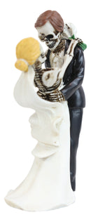 Love Never Dies Day Of The Dead Wedding Dance Skeletons Groom And Bride Figurine