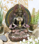 Feng Shui Buddhism Tara Amitayus Buddha Amitabha Seated On Lotus Throne Statue