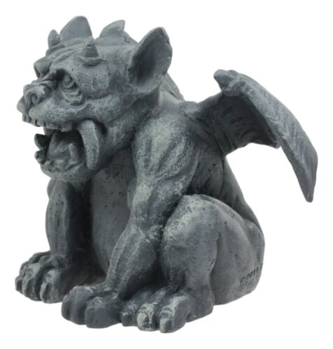 "Ebros Gothic Fido The Fat Sabre Tooth Tiger Gargoyle Figurine Small Mythical Fantasy Decor Statue 3.5"" Tall"