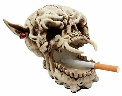 "Atlantic Collectibles Demon Pirate Skull Figurine 6.5""L Fanged Bone Vampire Mara - Atlantic Collectibles"