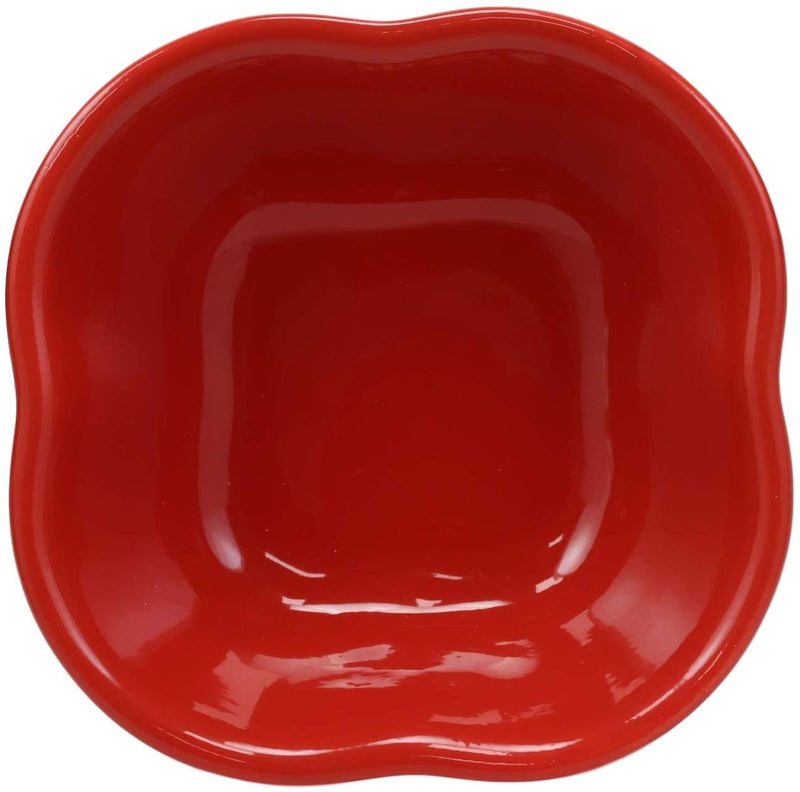 Ebros Ceramic Red Bell Pepper Vegetable 12oz Bowl Condiments Container SET OF 2