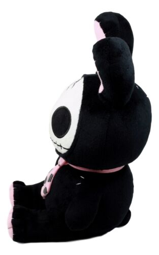 Furry Bones Skeleton Black Tuxedo Bunny With Pink Polka-dot Tie Plush Toy Doll