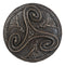 Wiccan Triple Goddess Triskele Spiral Serpent in Rune Circle Wall Plaque Decor