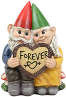 "Ebros Whimsical Mr and Mrs Gnome 'Forever Love Struck' Couple Statue 6.25"" Tall"