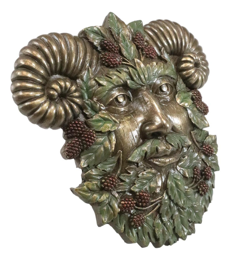 The Horned God Blooming Floral Foliage Celtic Summer Season Greenman Wall Decor