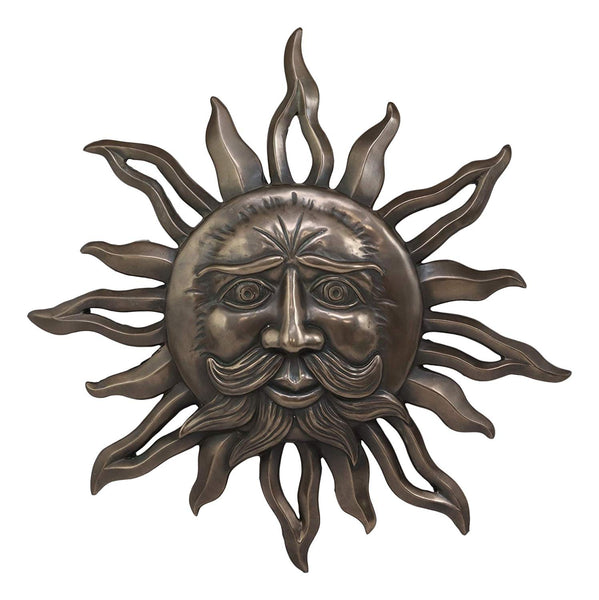 "Ebros Celtic Mythology Belenos Celestial Solar Radiant Celtic Sun God Wall Hanging Decor 14.5"" Diameter Figurine Home Decorative Sun Face Wall Plaque 3D Art Belenus The Shining God Sculpture"