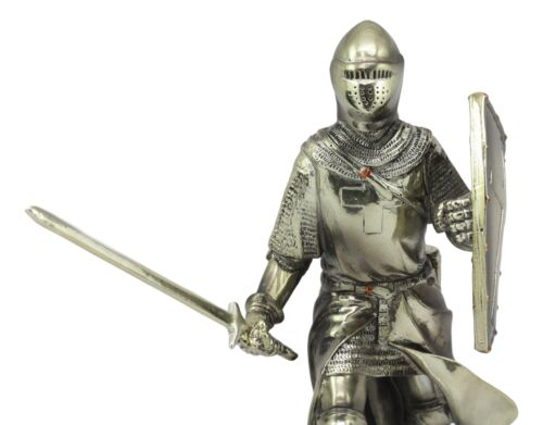 Medieval Holy Roman Empire Crusader Knight In Battle Statue Suit Of Armor Decor