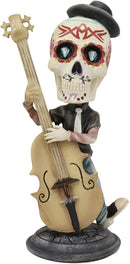 "Ebros DOD Skeleton Rock Band Bass Player Bassist Bobblehead Statue 7"" Tall"