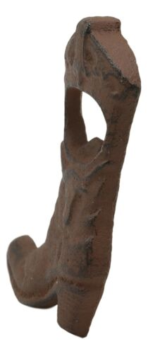 Pack Of 2 Rustic Western Longhorn Steer Cowboy Boot Cast Iron Bottle Cap Opener