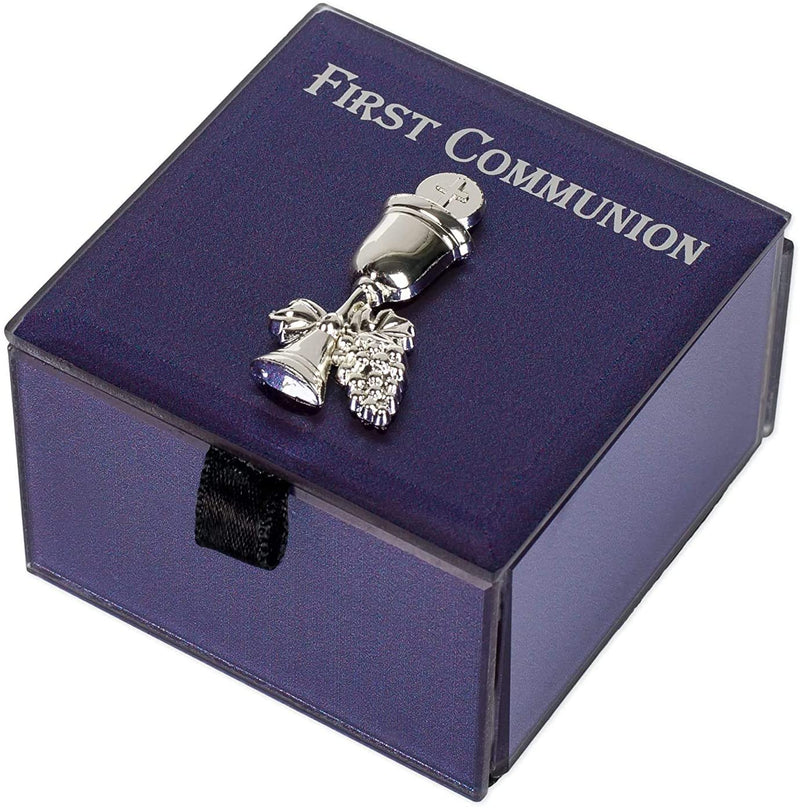 Ebros First Holy Communion Eucharist Sacrament Rosary Trinket Keepsake Glass Box