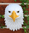 "Large 16""H Majestic Bald Eagle Wall Decor Patriotic American Eagle Wall Plaque"