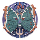 "Ebros Butterfly Metamorphosis Psyche Spirit Goddess Decor Wall Plaque 5.25"" Diameter Wiccan Wicca Art Decorative Sculpture by Oberon Zell"
