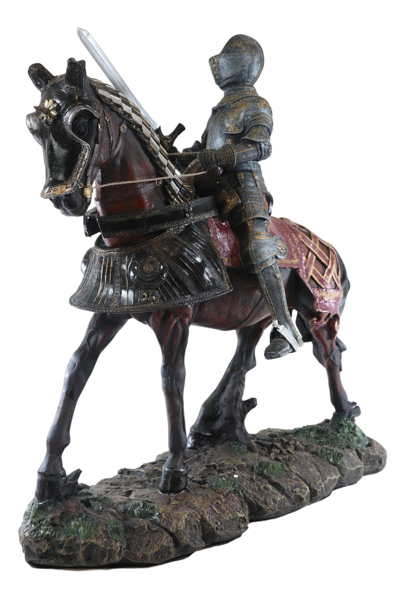 "Large 18"" Tall Medieval Royal Calvary Knight Statue Suit of Armor Figurine Resin"