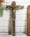"10""H INRI Jesus Christ Crucified On The Cross Wall Hanging Catholic Crucifix"