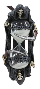 Soul Harvester Time Waits For No Man Gothic Grim Reaper With Scythe Sand Timer