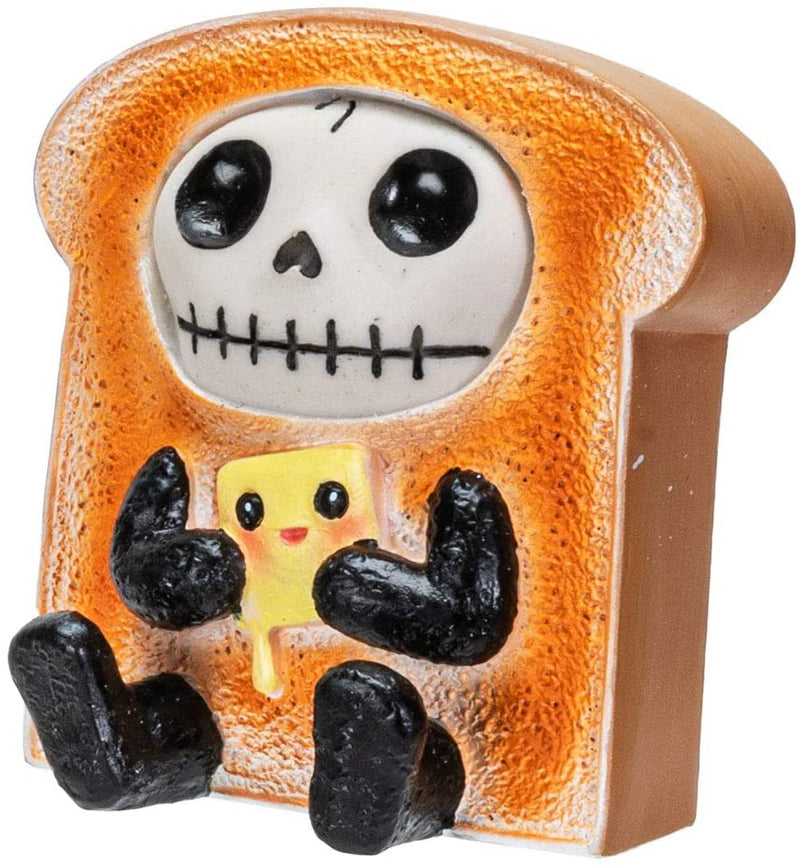 Ebros Furrybones Toasty Figurine in Bread Toast Costume 3 Inch Tall Collectible