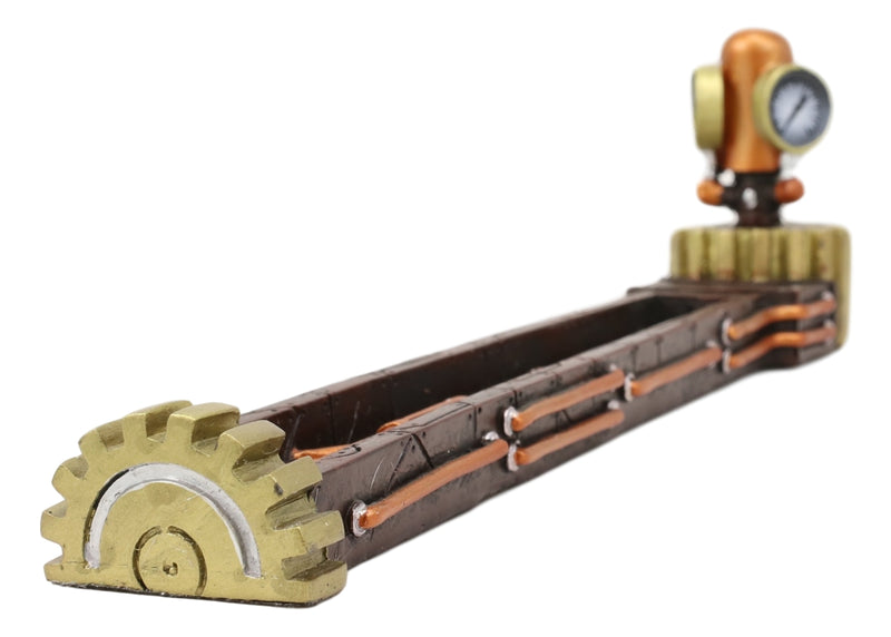 Steampunk Gas Valve Gauge Pipelines And Gearwork Incense Stick Holder Figurine