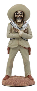 Ebros Day of The Dead General Pancho Villa with Dual Revolvers Skeleton Statue Governor of Chihuahua Mexican Revolutionary Hero of División del Norte Sculpture Home Decor Halloween DOD Figurine