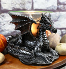 Mythical Air Behemoth Dragonite Resting Black Dragon Electric Oil Burner Statue