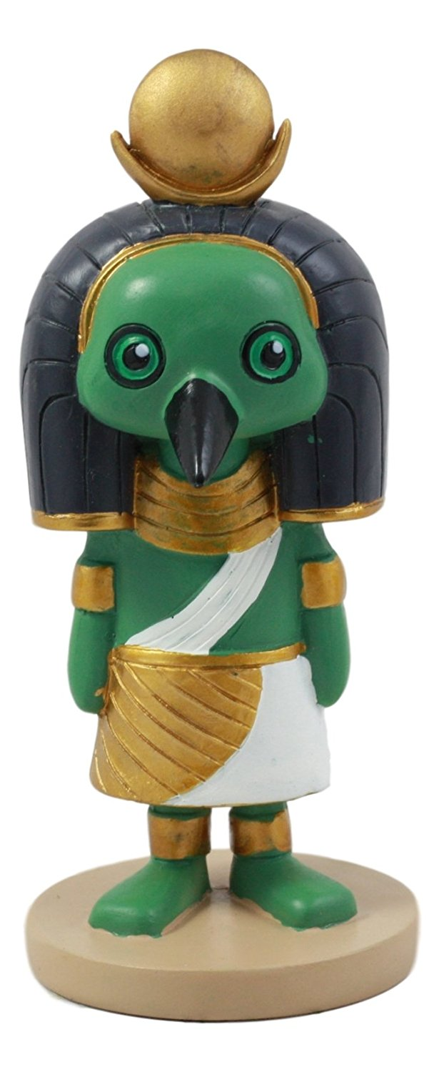 "Ebros Egyptian God Of Technology And Wisdom Ibis Thoth Figurine 4""H Dollhouse Collectible"