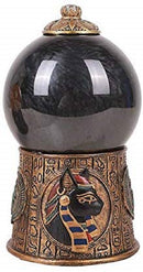 Ebros Egyptian Bastet Sound Activated Sand Storm Water Globe, 7 1/4 Inch Tall