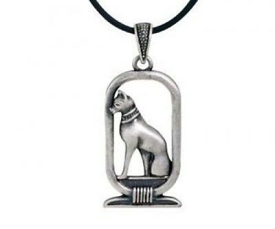 Ancient Egyptian Pewter Bastet Ubasti Cat Goddess Medallion Pendant Necklace - Atlantic Collectibles