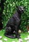 "Realistic Large Black Ghost Panther Jaguar Hunter 20""H Garden Lawn Patio Statue"