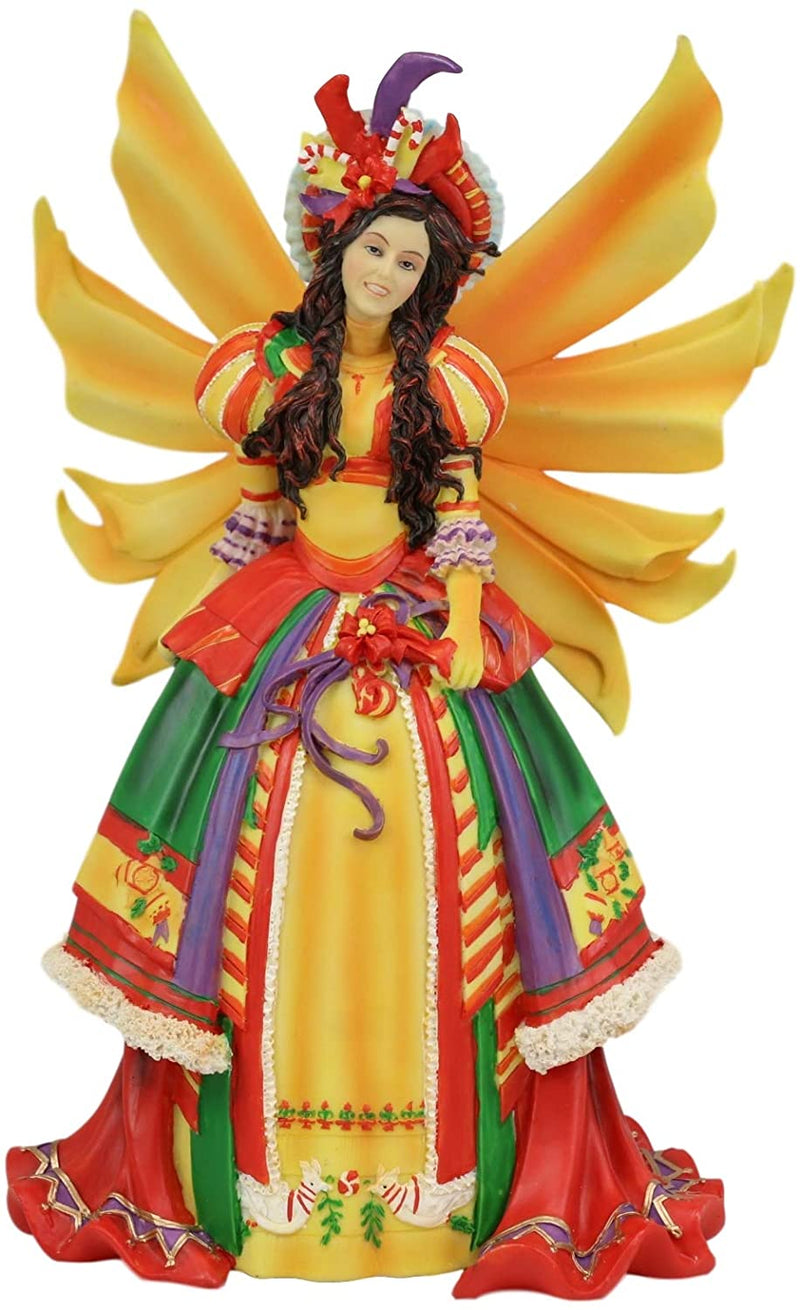"Ebros Teri Rosario Fairy Queen of Masquerade Winter Fairy Statue 11.25"" Tall"