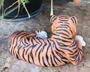 "Large Royal Bengal Tiger Resting Gracefully 15.5"" Long Statue Home Garden Decor"