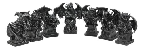 The Allegorical Seven Deadly Sins Gargoyle Figurine Set of 7 Wicked Gargoyles