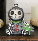 Furrybones Black Itsy Bitsy Webster Spider Skeleton Figurine Small Furry Bones