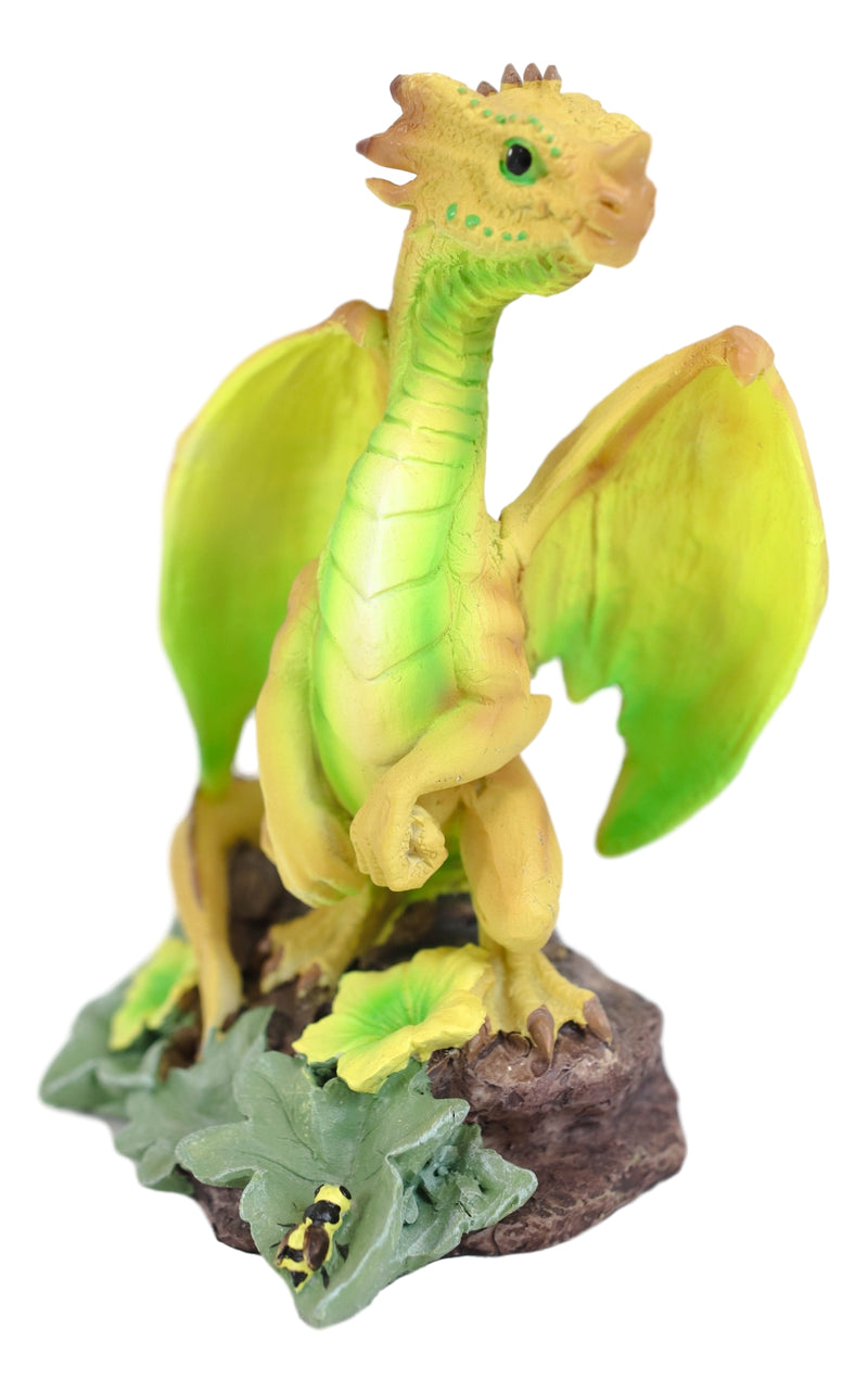 Colorful Fruits Vegetables Honeydew Melon Dragon Figurine Fairy Garden Decor