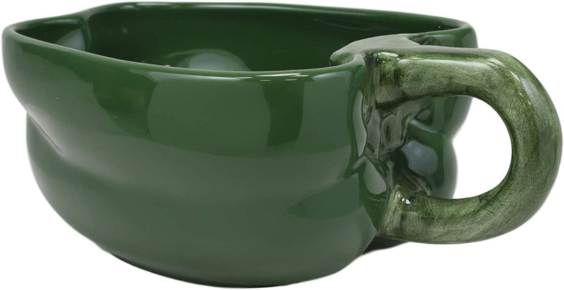 "Ebros 8"" Wide Realistic Green Bell Pepper Ceramic Soup Bowl Container SET OF 2"