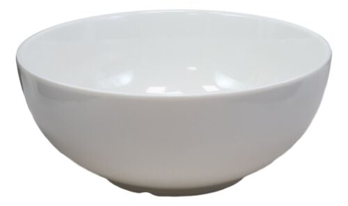 Pack Of 2 Large Contemporary Round White Jade Melamine Ramen Pho Vegetable Bowls