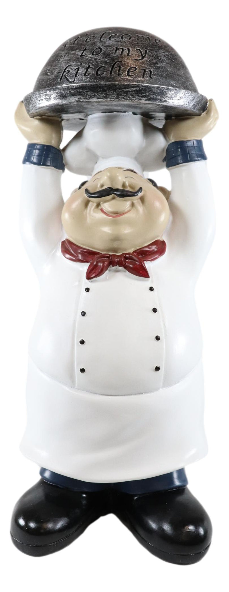 "Ebros Master Bistro Chef Holding Melting Dome Tray Welcome Figurine 14""Tall - Ebros Gift"